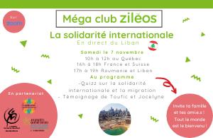 2020-10-05 - Méga Club sur la solidarité internationale (en direct du Liban)